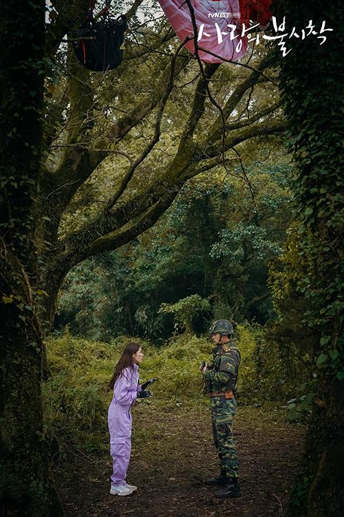 Trong cảnh quay này, Seri bị mắc dù trên một cành cây cao, sau đó rơi xuống người của Hyuk. Hai người đối đáp, rượt đuổi nhau. Toàn bộ cảnh quay này được thực hiện tại công viên quốc gia Hallasan tại đảo Jeju.