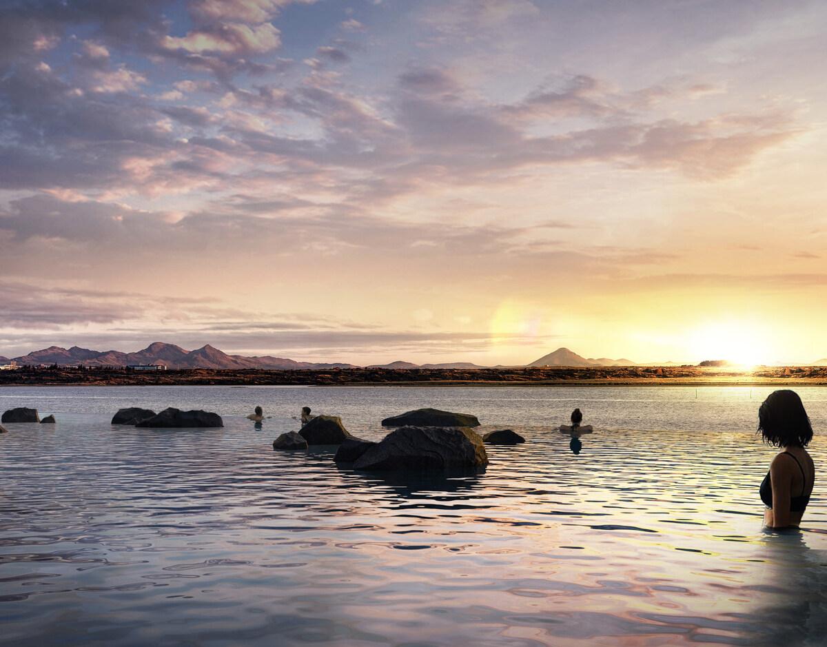 """Theo Dagny Petursdottir, Tổng giám đốc khu nghỉ dưỡng: """"Chúng tôi rất vui khi tiết lộ kế hoạch phát triển hoạt động nghỉ dưỡng này ở một trong những địa điểm view biển đẹp nhất. Thư giãn trong làn nước nóng tự nhiên là một phần văn hóa của người Iceland. """"."""