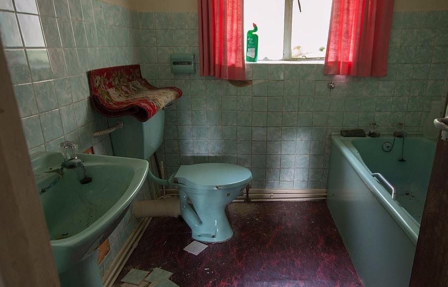 Lớp sơn xung quanh ngôi nhà bị bong tróc và gạch trong phòng tắm đã bắt đầu rơi ra khỏi các bức tường. Ngôi nhà cũng có lò sưởi, bên cạnh là một chiếc ghế bành được đặt cẩn thận. Ở nơi khác, một chiếc gương vỡ nằm trên đỉnh tủ quần áo đang dần rơi vào tình trạng hư hỏng.