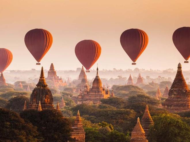 Bagan là thành phố cổ của Myanmar, cũng được chuyên trang du lịch của Mỹ đưa vào danh sách. Nơi đây được biến đến là một địa điểm khảo cổ với hơn 2.000 di tích Phật giáo nằm trên cao nguyên. Chuyên trang cũng gợi ý một số hoạt động như thăm chợ Mani-Sithu - khu chợ điển hình với các sản phẩm hàng dệt, khám phá thức ăn đường phố, mua đồ lưu niệm như đồ gỗ và đồ sơn mài... Ảnh: Instamandalay.