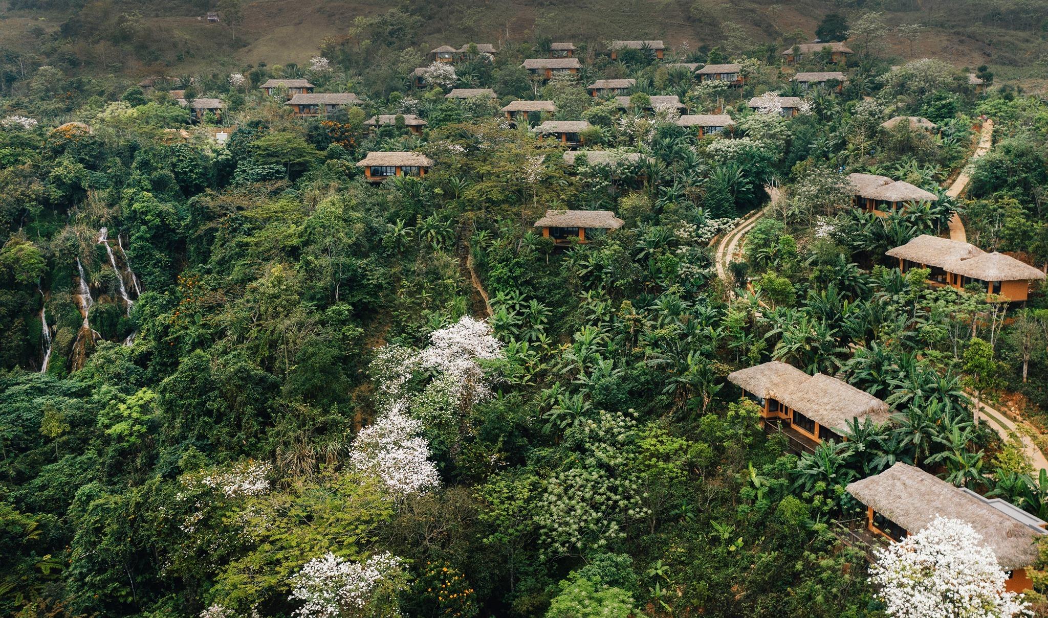 Xuất hiện khu nghỉ dưỡng Avana Retreat Mai Châu giữa sườn núi view đẹp xuất sắc