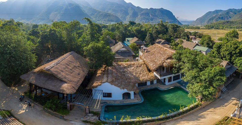 Trốn nóng cuối tuần nghỉ dưỡng yên bình ở Mai Châu Rustic Home